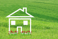 Free Dream House With Red Flowers Stock Photos - 46518593