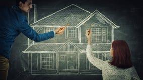 Dream house stock photos