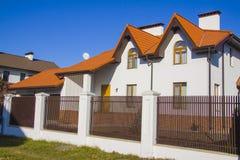 Dream houses. Modern Suburban Family Houses in German style Stock Photo