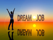 Dream job. Young woman is visualizing her dream job Royalty Free Stock Photo
