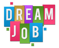 Dream Job Colorful Stripes Group Royalty Free Stock Photos