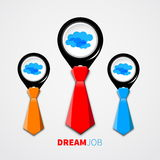 Dream job - conceptual logo eps10 Stock Image