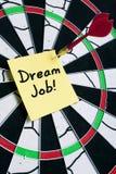 Dream Job. Note hitting on dartboard Stock Photos