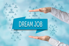 Dream job offer concept. Recruitment and hiring process, human r Royalty Free Stock Photos