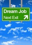 Dream job road sign Royalty Free Stock Image
