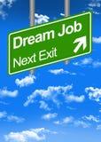 Dream job road sign Stock Photo