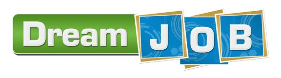 Dream Job Blue Technology Squares Green Bar Stock Photo