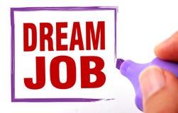 Dream job Stock Image