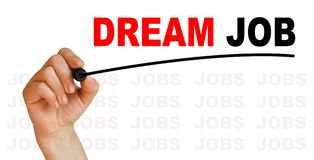 Dream job. Words made in 2d software with  background of words jobs Royalty Free Stock Photo