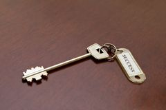 Dream key. Key on a table with a label Stock Photo