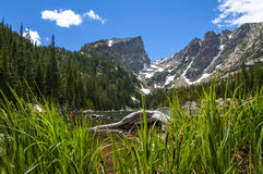 Dream Lake with Hallett Peak and Flattop Mountain Stock Photography