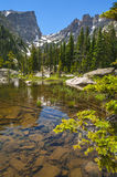 Dream Lake with Hallett Peak and Flattop Mountain Royalty Free Stock Photography