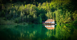 Dream Lake House In The Mountains Royalty Free Stock Image