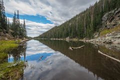 Dream Lake reflections. Dream lake in Rocky Mountain National Park Colorado Royalty Free Stock Photos