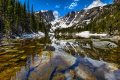 Dream Lake at the Rocky Mountain National Park Stock Photos