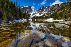 Dream Lake at the Rocky Mountain National Park. Colorado, USA Stock Photos