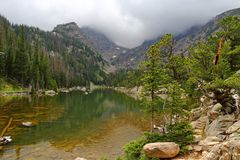 Dream Lake in the Rocky Mountain National Park, Colorado,