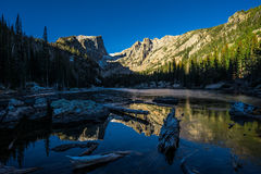 Dream Lake Rocky Mountain National Park. This is a winter picture of Dream Lake in Rocky Mountain National Park royalty free stock photo