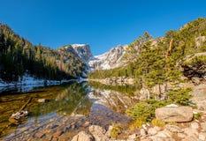 Dream Lake, Rocky Mountains, Colorado, USA. Stock Image