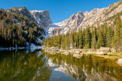 Dream Lake, Rocky Mountains, Colorado, USA. Royalty Free Stock Image