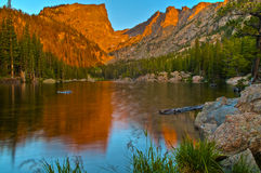 Dream Lake at Sunrise Stock Images