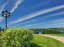 Dream land. Beautiful Summer Landscape - Green Acres of Prince Edward Island, Province of Canada Stock Images