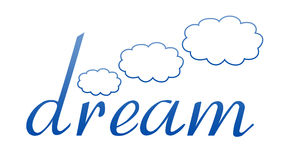 Dream Logo. Fulfill your dreams.  This logo can fill many purposes Stock Photography
