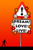 Dream love live Royalty Free Stock Images