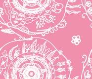 Dream loving girl spring seamless vector pattern illustration Stock Images