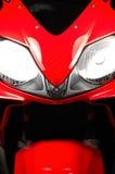 Dream machine. Red motorbike Stock Photos