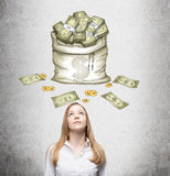 Dream about money Stock Photography