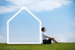 Dream about new house Stock Images