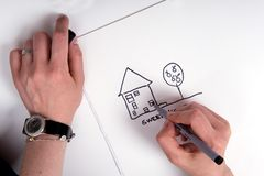 Dream of the new house Stock Photography