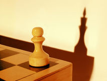 Dream of a Pawn. Symbol of the career, inner potential, and dream about the future Stock Images