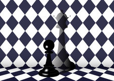 The dream of pawns Stock Photos