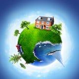 Dream planet. Summer house on dream planet Stock Image