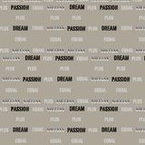 Dream plus passion equal success typographic conceptual pattern. Background vector illustration image Stock Image