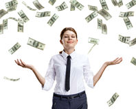 Dream of raining money Royalty Free Stock Photography