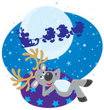 Dream of Reindeer Royalty Free Stock Images