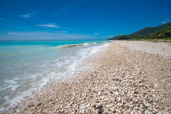 Dream rocky beach near Paraiso, Barahona Peninsula in Dominican Republic Stock Photography