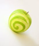 Dream's apple. A sweet Dreamstime apple over white background. Slightly blurry for a dreamy effect Stock Photo