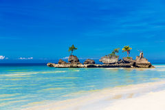 Dream scene. Beautiful island on the tropical sea . Summer nature view. royalty free stock photo