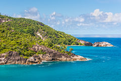 Dream Seascape Coast - Mahe Island, Seychelles Royalty Free Stock Image