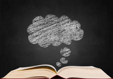 Dream sign on blackboard Royalty Free Stock Images