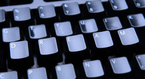 Dream Spelled Out on Keyboard Royalty Free Stock Photo