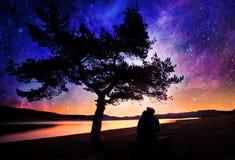 Dream stars and man Stock Photo