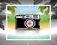 Dream about summer vacations Royalty Free Stock Image