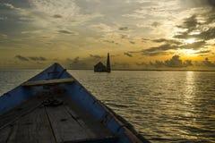 Dream sunrise and landscape at chilika lake odisha