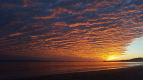 Dream of a sunset. Cloudy sunset at the beach. Santa Barbara, California, USA Stock Photography
