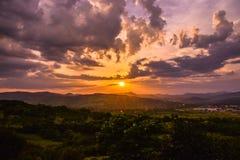 Dream sunset. Feeling the dream stock photo